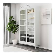 Small Glass Door Cabinet Hemnes Glass Door Cabinet White Stain Ikea Throughout Idea 11