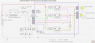 wiring diagram to install headlight upgrade 60 or 80 series land