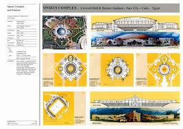 Stadium Floor Plans Sports Complex And Stadium Presentation Panel With Floor Plans