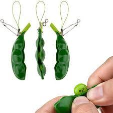 peas in a pod keychain fidget toys snowcinda 3 pcs squeeze a bean soybean stress