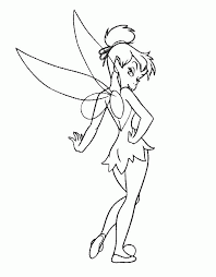 tinkerbell printable coloring