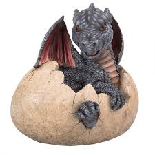 garden dragon egg statue 9 1 4 inch resin dragon statue