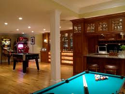 interior cool decoration open game room basement concept that