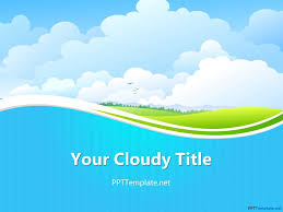 Ppt Templates Light Background Free Download Free Sky Ppt Template Ppt Free