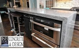 Concrete Kitchen Design Jonathan Seaman Infistone Concrete U0026 Design Lexington Ky