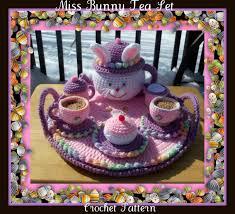 bunny tea set miss bunny tea set crochet pattern by craftsforangels on etsy
