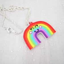 childrens necklace rainbow acrylic children s necklace by hoobynoo