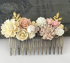 vintage hair combs blush wedding hair comb beautiful pink bridal hair