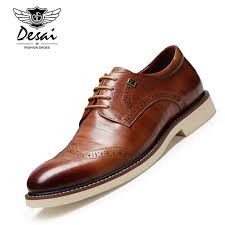 italien design schuhe desai marke luxus italien design leder männer brogues schuhe