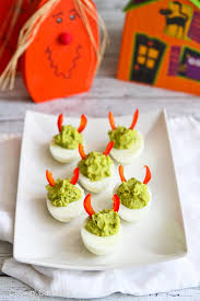 deviled eggs serving dish devilish avocado sriracha deviled eggs recipes cookin canuck