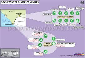 Olympics Venues 2014 Winter Olympics Venues Map Sochi Russia