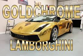 expensive cars gold lamborghini gallardo gold chrome vinyl wrap by florida car wrap