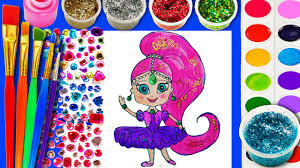 learn to color and draw for kids cute shimmer and shine coloring