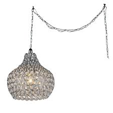 Pear Chandelier Paulina 1 Light Pear Contemporary Gleaming Crystal And Sleek