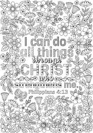 two coloring pages i can do all things through embroidery