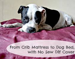 Homemade Dog Beds From Crib Mattress To Dog Bed With No Sew Diy Cover Your Sassy Self
