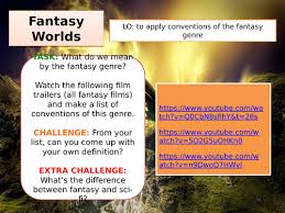 fantasy film genre conventions creative writing creating a fantasy world by andreamayo teaching