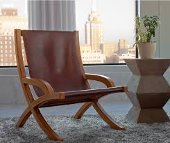 Vintage Leather Chairs Leather Sling Chair