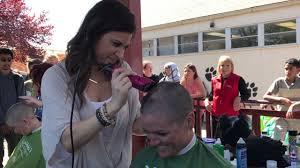 principal shaves head for st baldrick u0027s fundraiser youtube