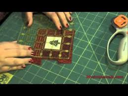 how to finish a cross stitch or a quilt square into an