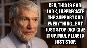 Ham Meme - a meme about ken ham god of evolution