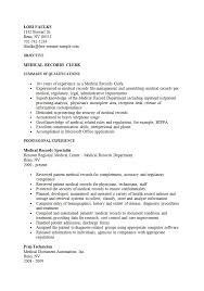Clerical Sample Resume by Medical Clerk Sample Resume Haadyaooverbayresort Com