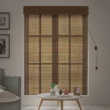 Burnt Bamboo Roll Up Blinds by Amazon Com Chicology Bamboo Roll Up Blinds Wood Window Blind