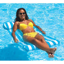 Floating Pool Lounge Chairs Swimline Premium Water Hammock Pool Float Nt1240 The Home Depot