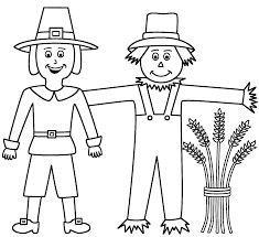 thanksgiving scarecrow coloring pages u2013 festival collections