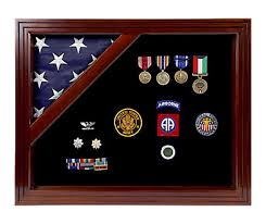 3 X 5 Flags Military Award Shadow Box With Display Case For 3 X 5ft Flag Black