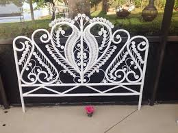 wicker headboard queen ideas with vintage shabby chic bohemian