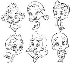 draw characters bubble guppies colouring