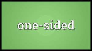 one sided one sided meaning youtube