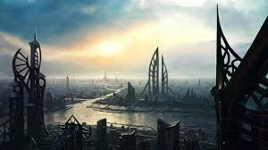 future village wallpapers 50 futuristic city wallpapers