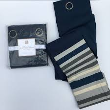 Pottery Barn Kids Panels by 2 New Pottery Barn Kids Wyatt Stripe Blackout Drapes Panels Navy