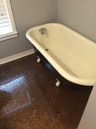 Claw Foot Tub Shower Curtains Stephanie Crowder Realtor Diy Penny Floor With Clawfoot Tub No