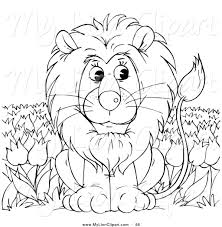 the lion coloring page