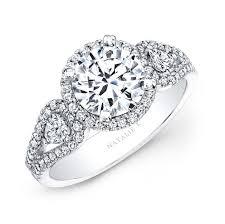 white stones rings images 14k white gold white diamond halo engagement ring jpg