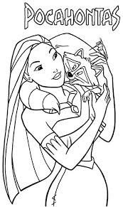 coloring gorgeous pocahontas coloring pages john smith