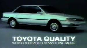 1989 commercial toyota camry who could ask for anything more