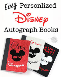 personalized autograph books easy diy personalized disney autograph books the six fix