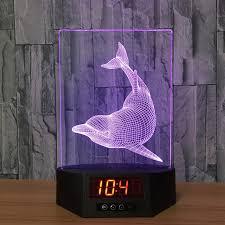 les de bureau led les dauphins acrylique 3d nuit lumière interdiction led calendrier