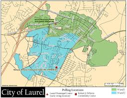maryland map by city maps city of laurel maryland