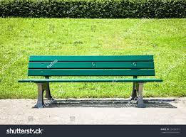 wooden park bench park stock photo 124156327 shutterstock