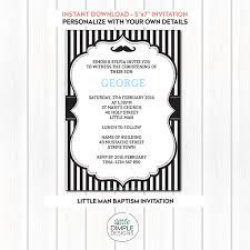 printable little man mustache invitation template for a boy u0027s