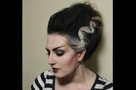 halloween bride of frankenstein hair youtube