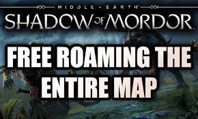 Map Of Mordor Middle Earth Shadow Of Mordor Free Roam Open World Gameplay Map