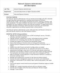 Admin Job Profile Resume by Administrator Job Description Example 14 Free Word Pdf
