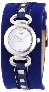 bracelet guess cuir images Guess w0160l3 montre femme quartz analogique cadran argent jpg