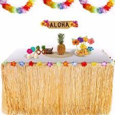 hawaiian luau party fengrise hawaiian luau party tropical plastic table skirt